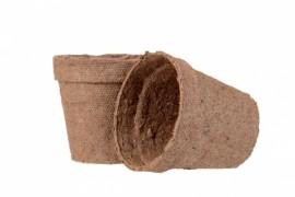 Торфяной горшок для рассады, 80х80мм, 10 шт.
