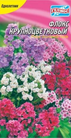 Семена Флокс крупноцветковый смесь, 0,25 г, ТМ Гелиос