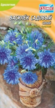 Семена Василек садовый синий, 0,3 г, ТМ Гелиос