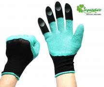 Перчатки садовые с когтями Garden Genie Gloves