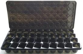 Парничок-кассета для рассады с поддоном и крышкой, 40 ячеек