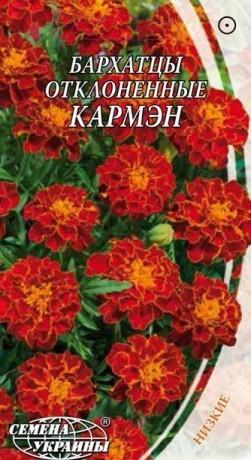 Семена Бархатцы откл. Кармэн, 0,5 г, ТМ Семена Украины