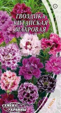 Семена Гвоздика китайская махровая, 0,2 г, ТМ Семена Украины