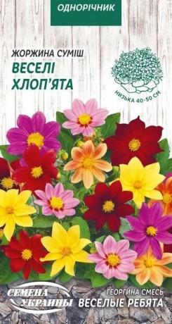 Семена Георгина Весёлые ребята, 0,2 г, ТМ Семена Украины