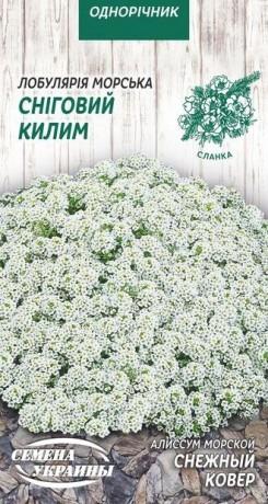 Семена Алиссум Снежный ковер, 0,2 г, ТМ Семена Украины