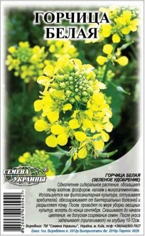 Семена Горчица белая, 1 кг, ТМ Семена Украины