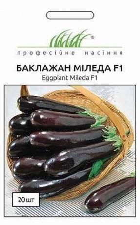 Семена Баклажана Миледа F1, 20 шт, Syngenta, Швейцария, ТМ Професійне насіння