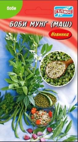 Семена Бобов Мунг (Маш), 100 шт, ТМ Гелиос