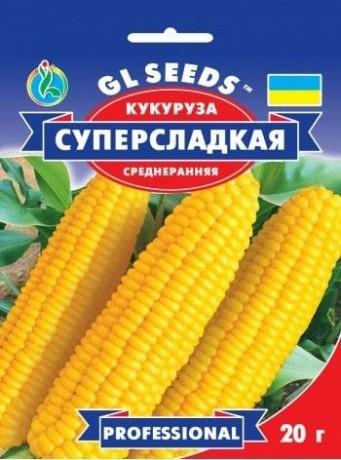 Семена Кукурузы Суперсладкая, 20 г, ТМ GL Seeds