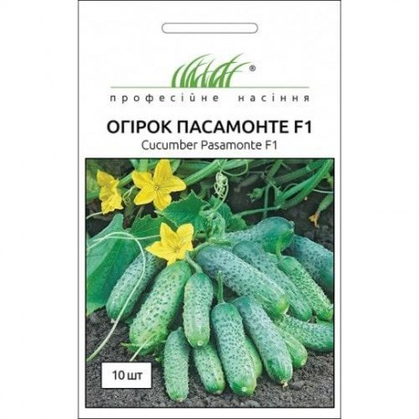 Семена Огурца Пасамонте F1, 10 шт, Syngenta, Голландия, ТМ Професійне насіння