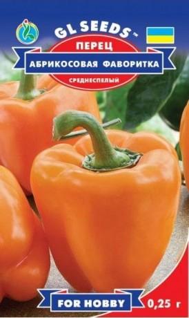 Семена Перца Абрикосовая Фаворитка, 0.25, ТМ GL Seeds, НОВИНКА