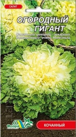 Семена Салата Огородный гигант, 0.3 г, ТМ ФлораМаркет