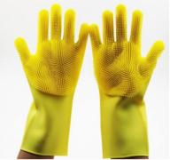 Силиконовые многофункциональные перчатки для мытья и чистки(жёлтый)
