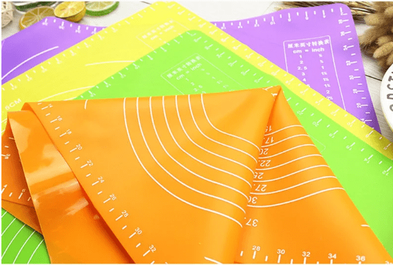 Силиконовый кондитерский коврик для теста и выпечки (коричневый), 48х38 см
