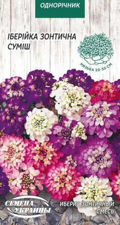 Семена Иберис зонтичный, 0.5 г, ТМ Семена Украины